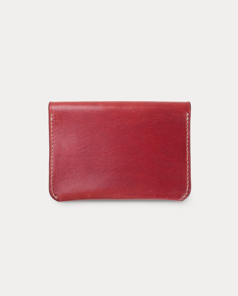 flap wallet red front closed