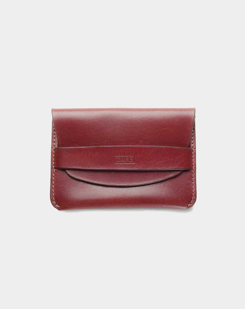 flap wallet red front