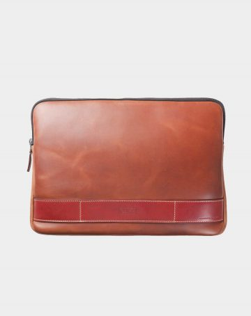 leather portfolio brown