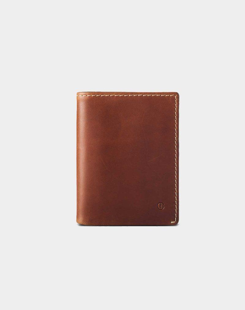 leather wallet brown slim