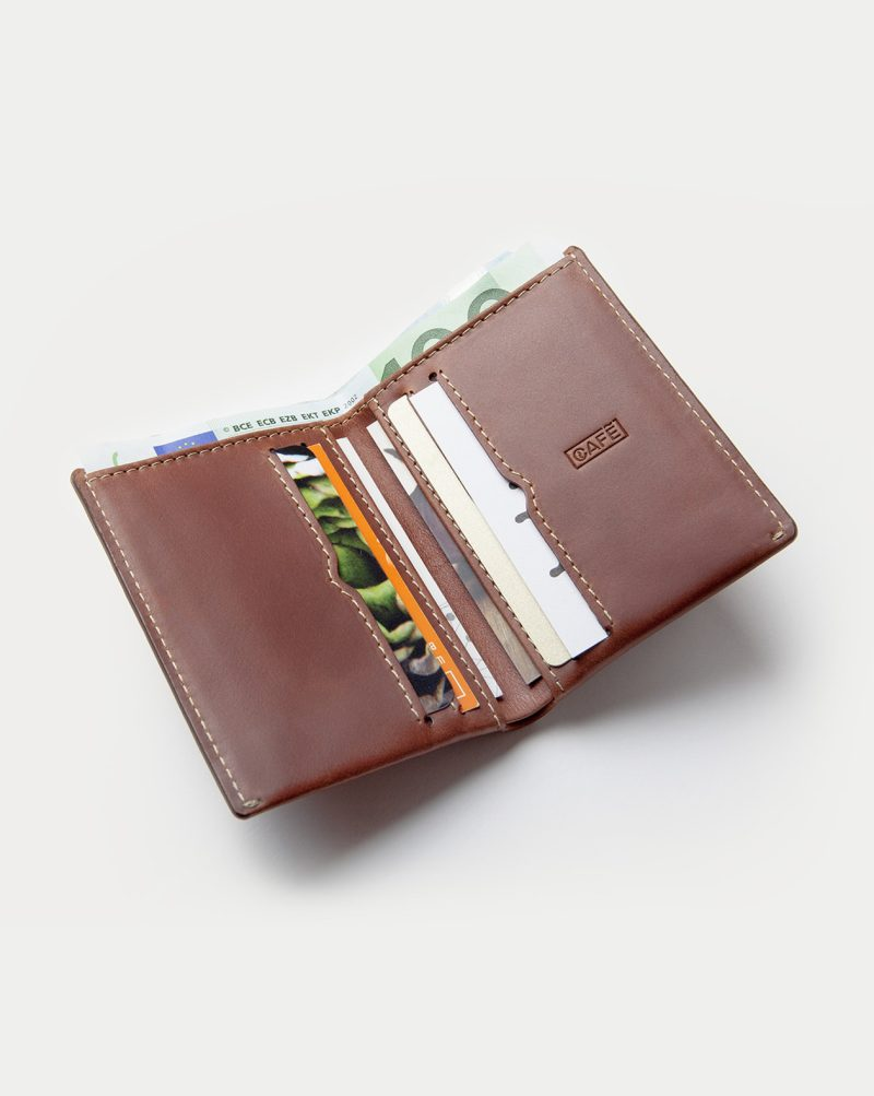 leather wallet brown open full