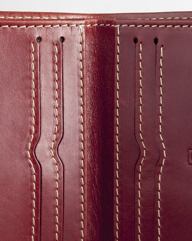leather wallet red detail inside