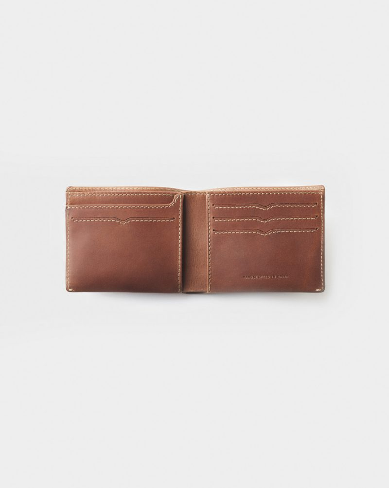 brown billfold handmade