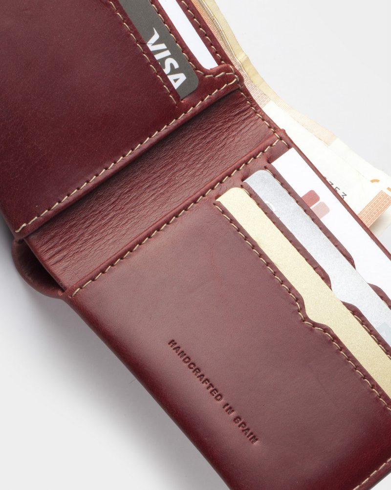 billfold wallet red card slotw