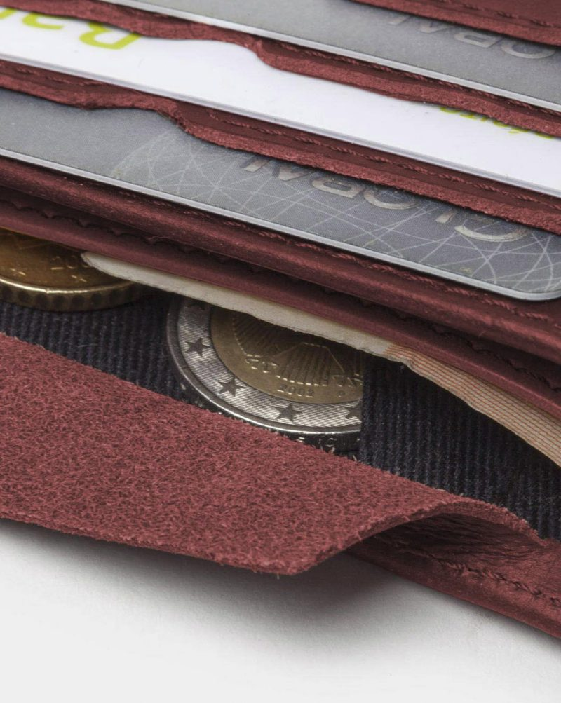 billfold wallet red coins pouch