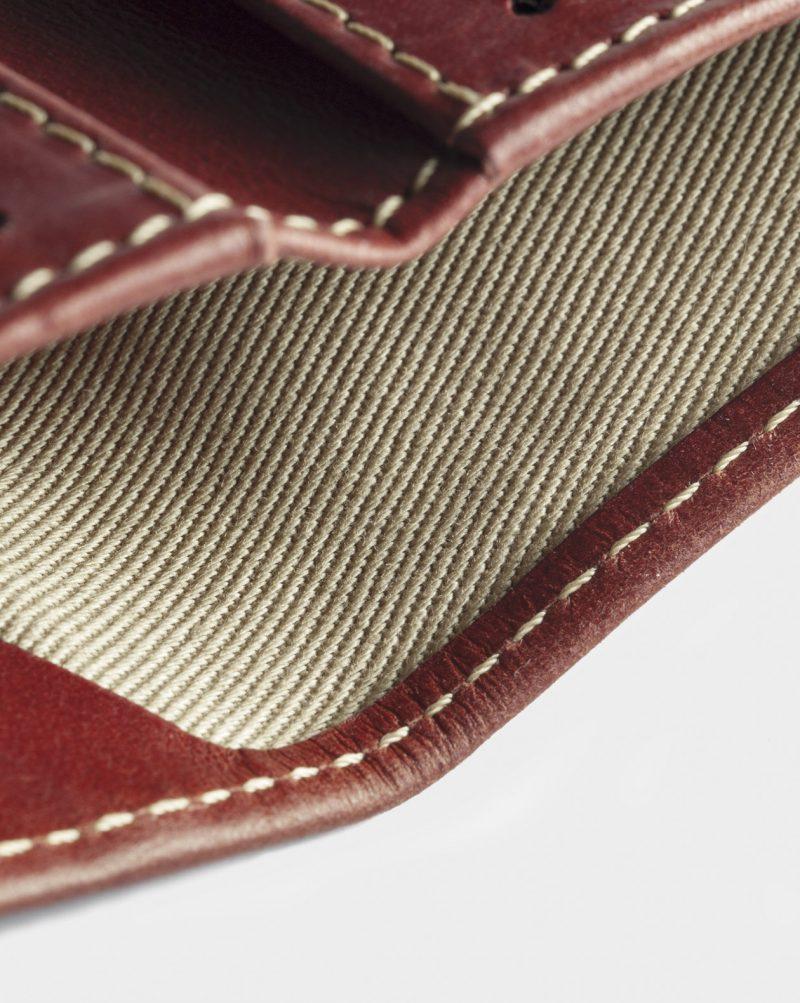 billfold-wallet leather red open detail
