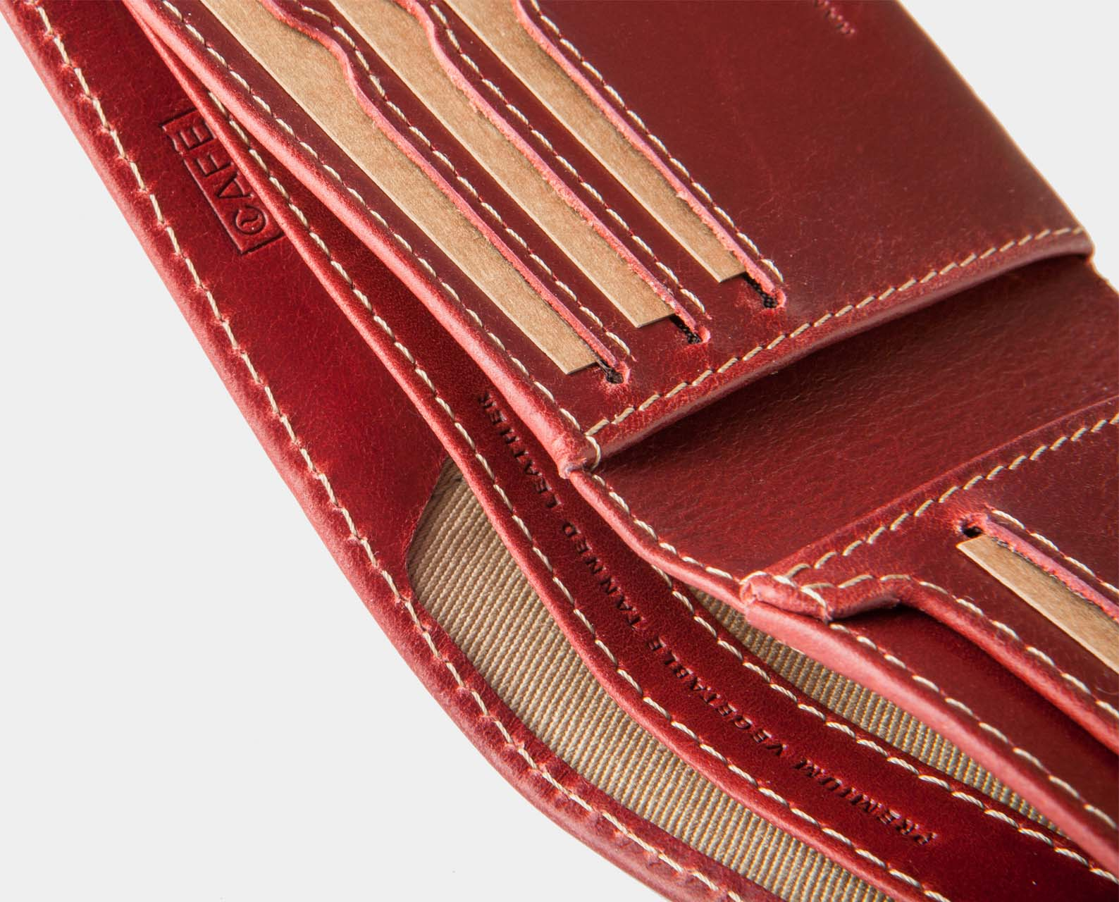 billfold wallet red for coins and bills