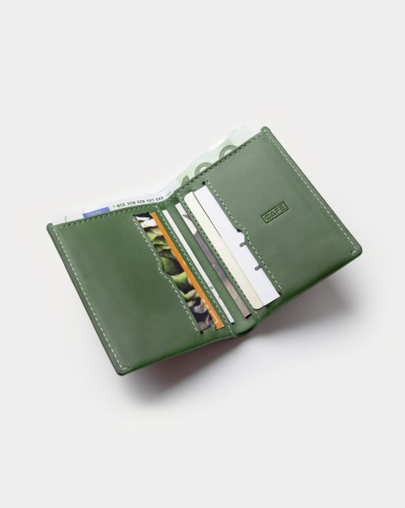 slim wallet green cards