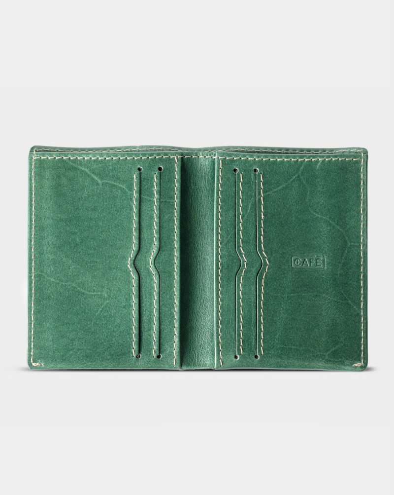 slim wallet green open