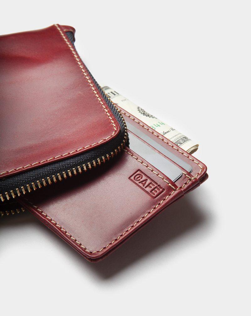 osaka zip wallet berry detail