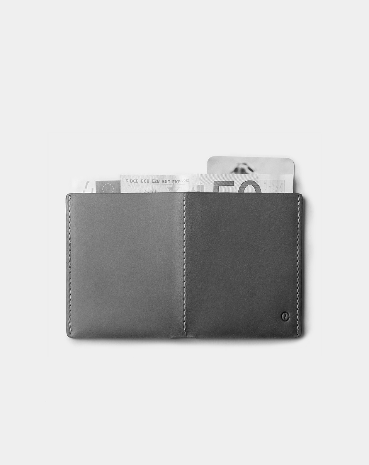 Ultra Slim Leather Wallet Jamaica B/W 2