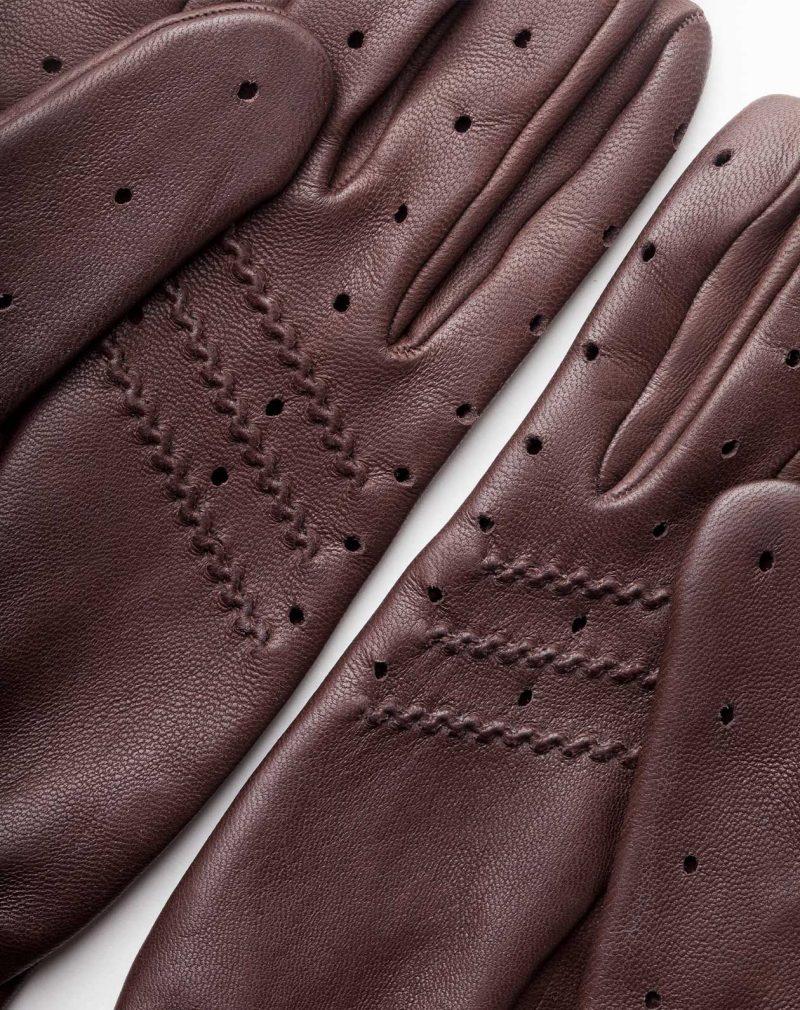 driving gloves dark brown leather detail