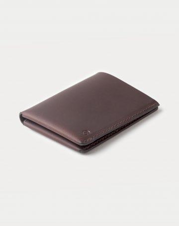 slim wallet dark brown closed