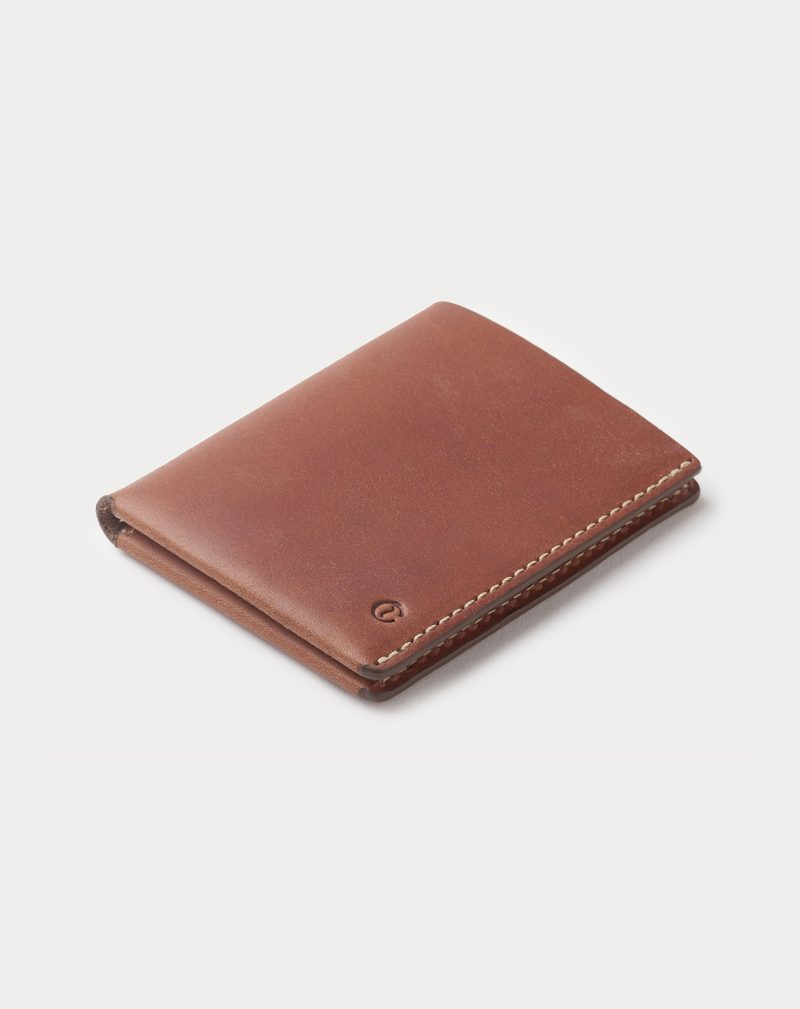 cartera de piel ultra slim marron