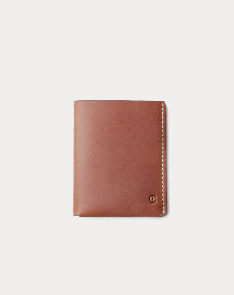 slim wallet brown front