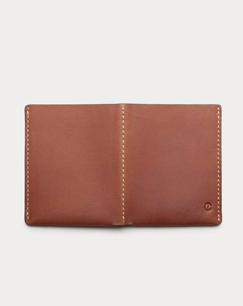 slim wallet brown open back