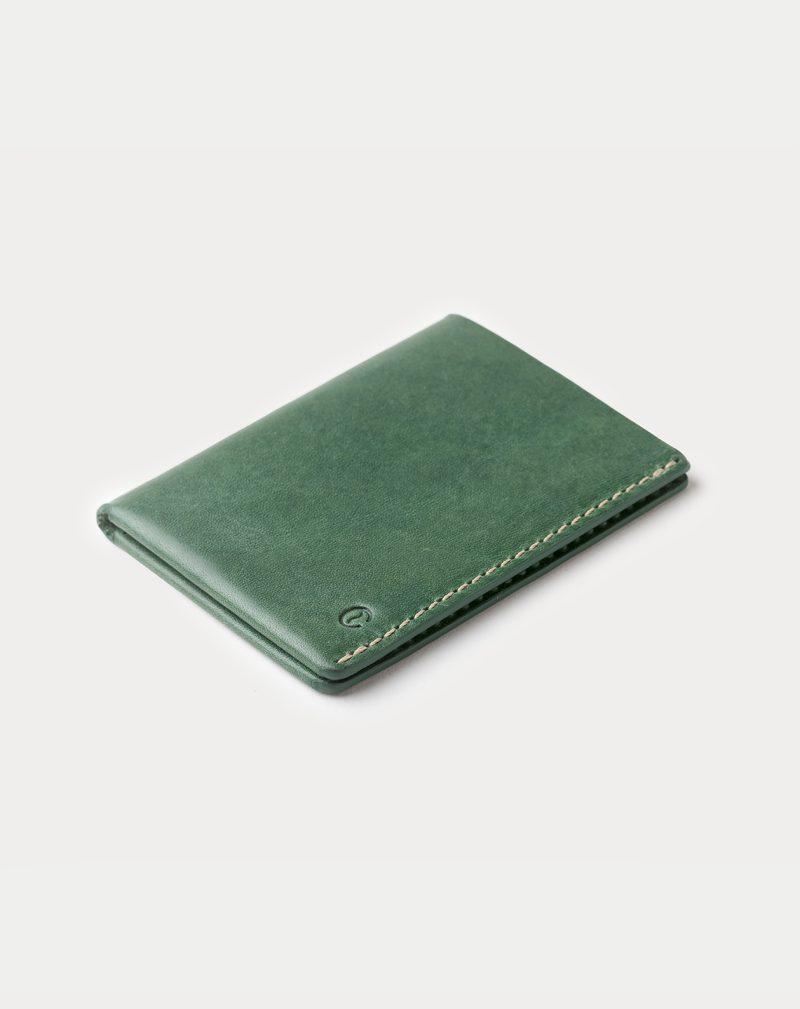 slim wallet green closed