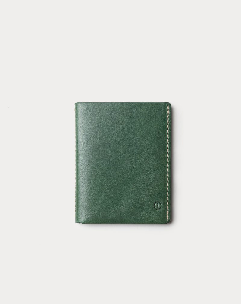 slim wallet green front
