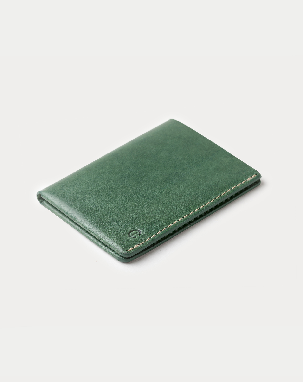 slim wallet green for cards and bills