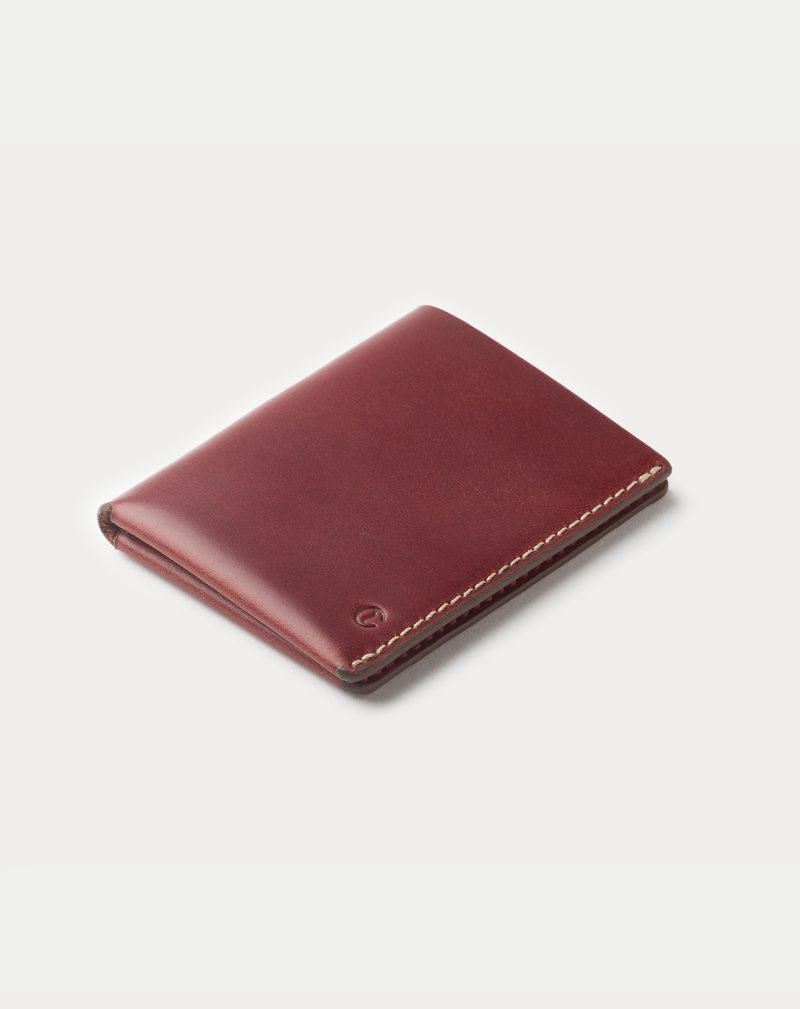 slim wallet red closed front