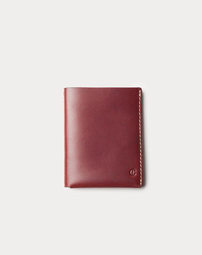 slim wallet red front