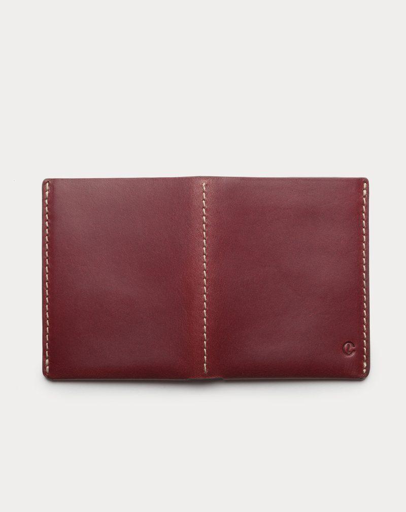 slim wallet red open back