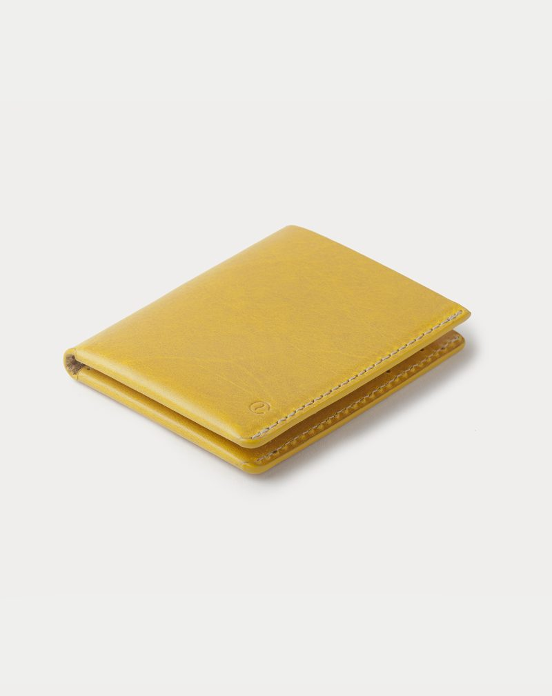 slim wallet yellow closed front