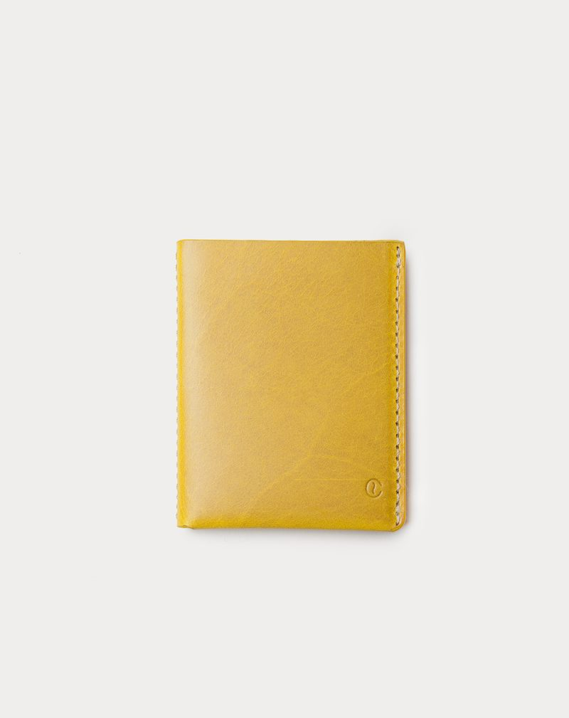 slim wallet yellow front