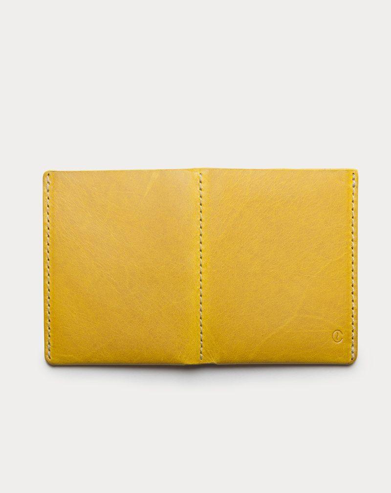 slim wallet yellow open back