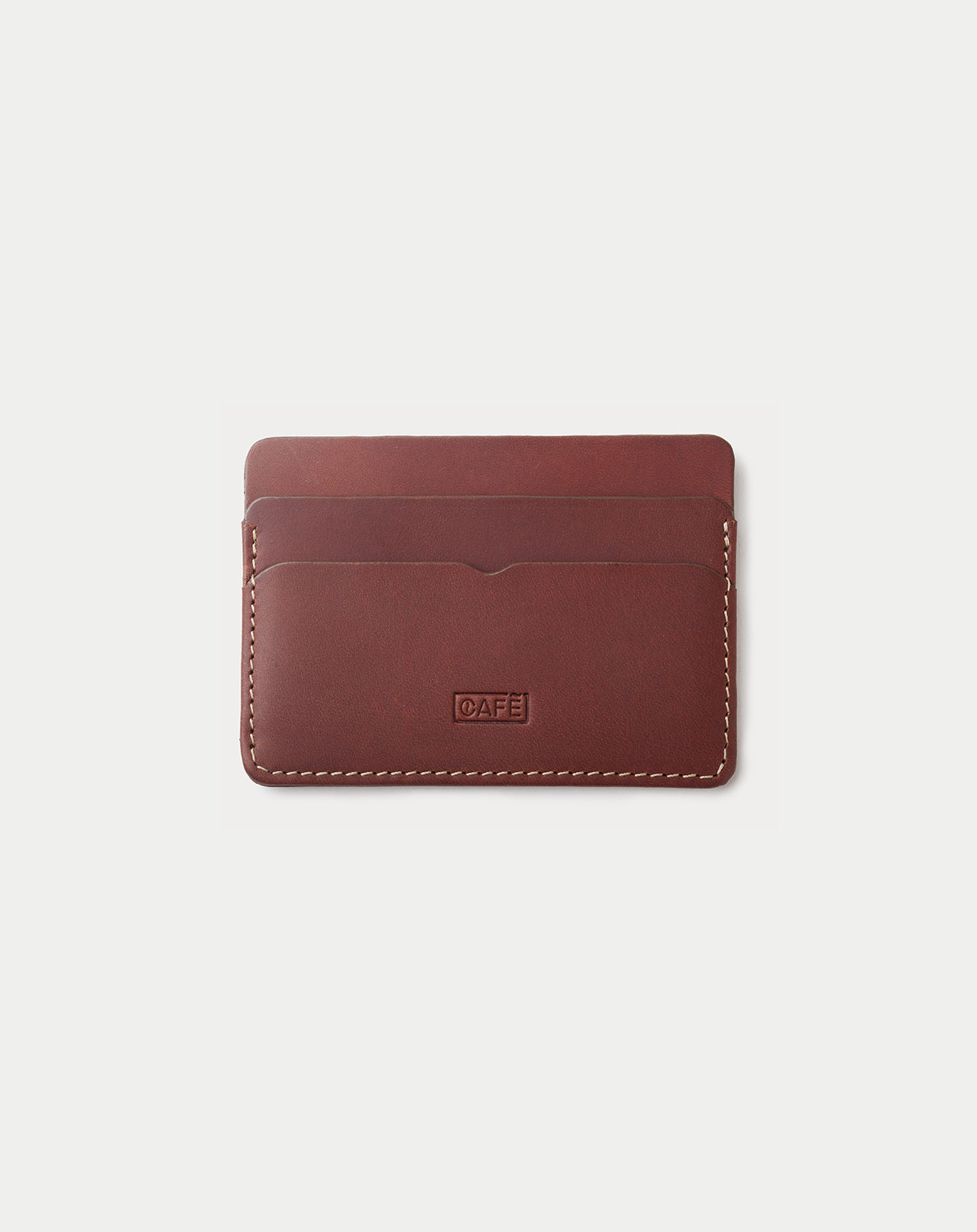 Leather Card Holder Panama + Roasted with five pockets. Tarjetero de piel Panama + Roasted con cinco compartimentos