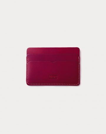 card holder red front
