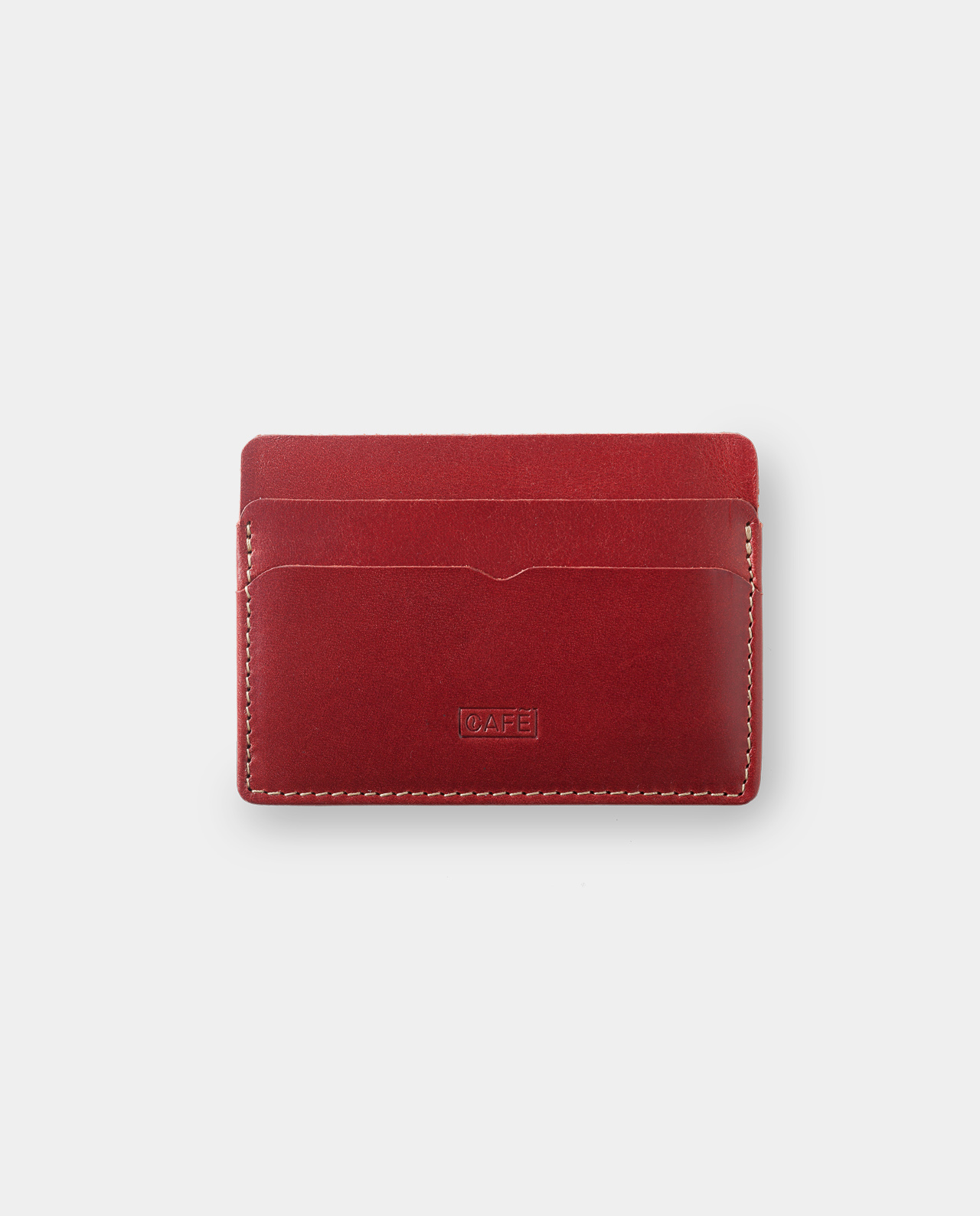 card holder red for cards and bills