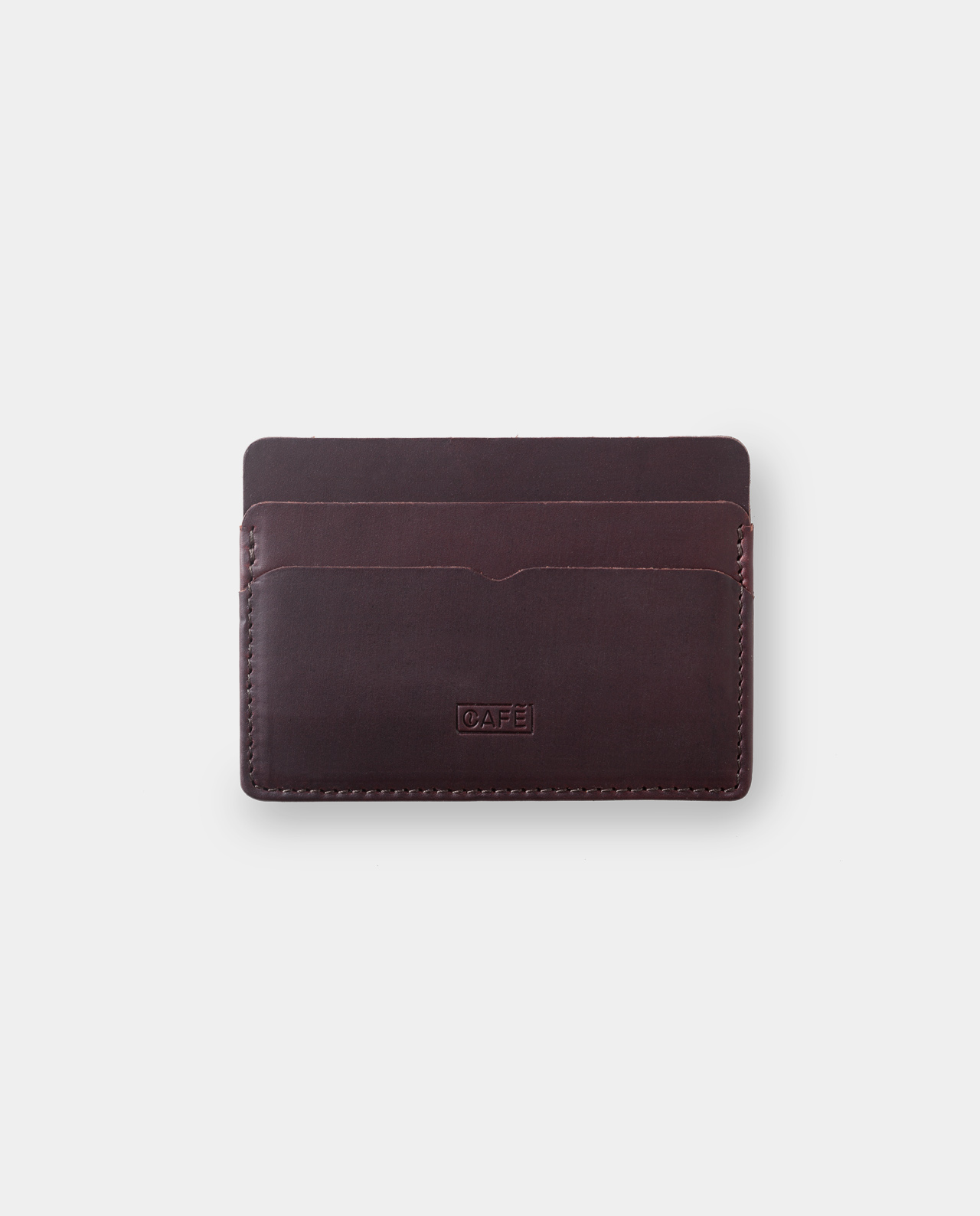 Leather card holder Panamá+ Black Coffee 2