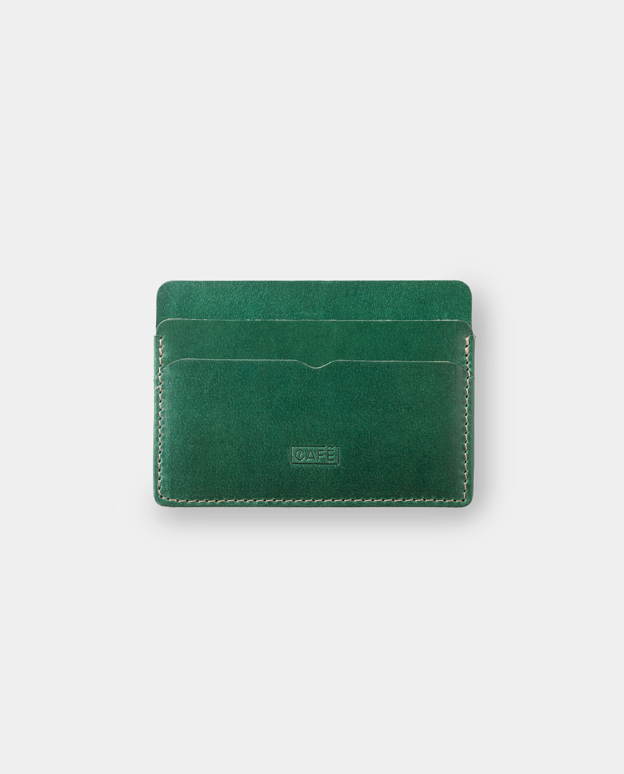 Leather card holder Panamá+ Greenery