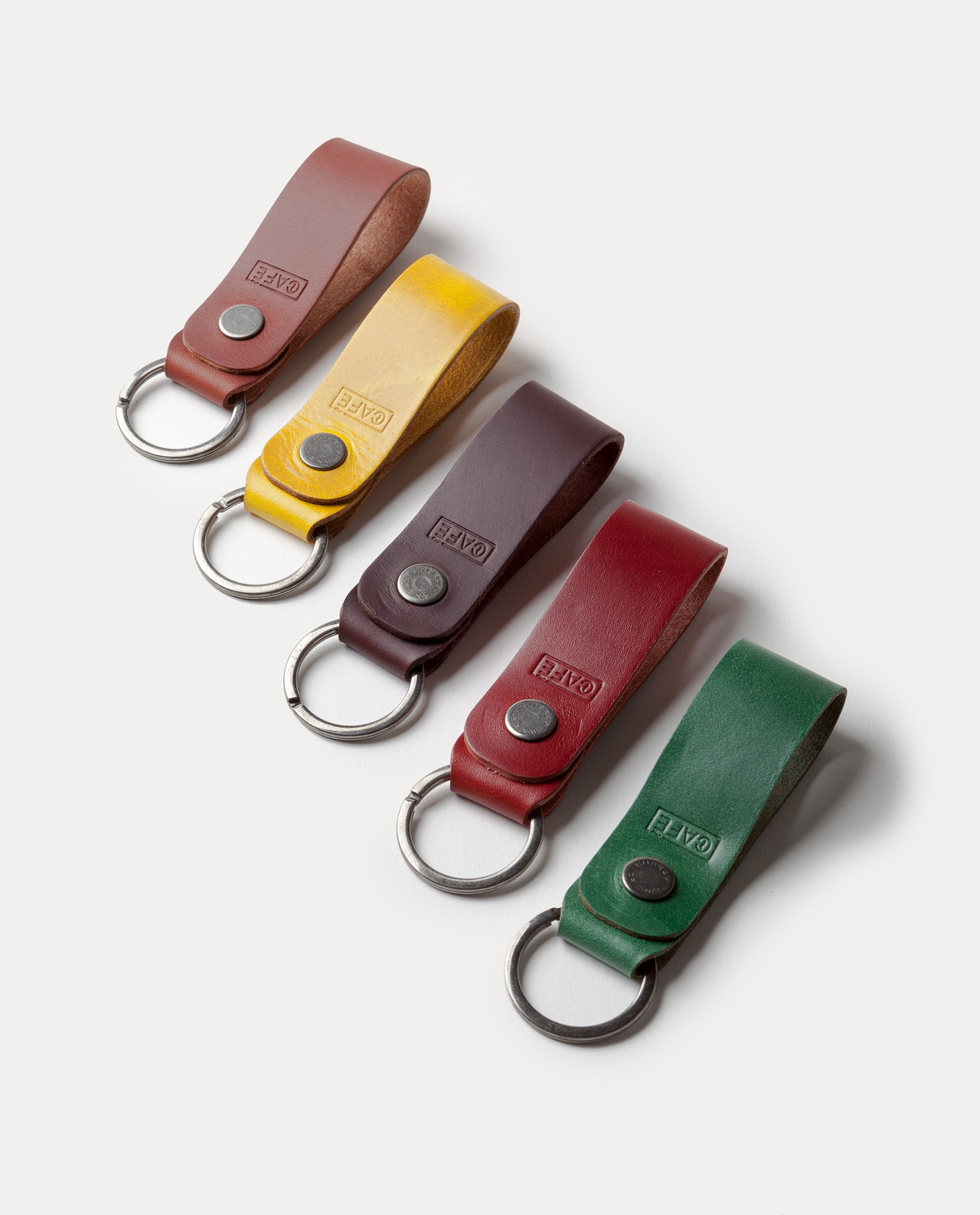 leather keychain handcrafted in Spain