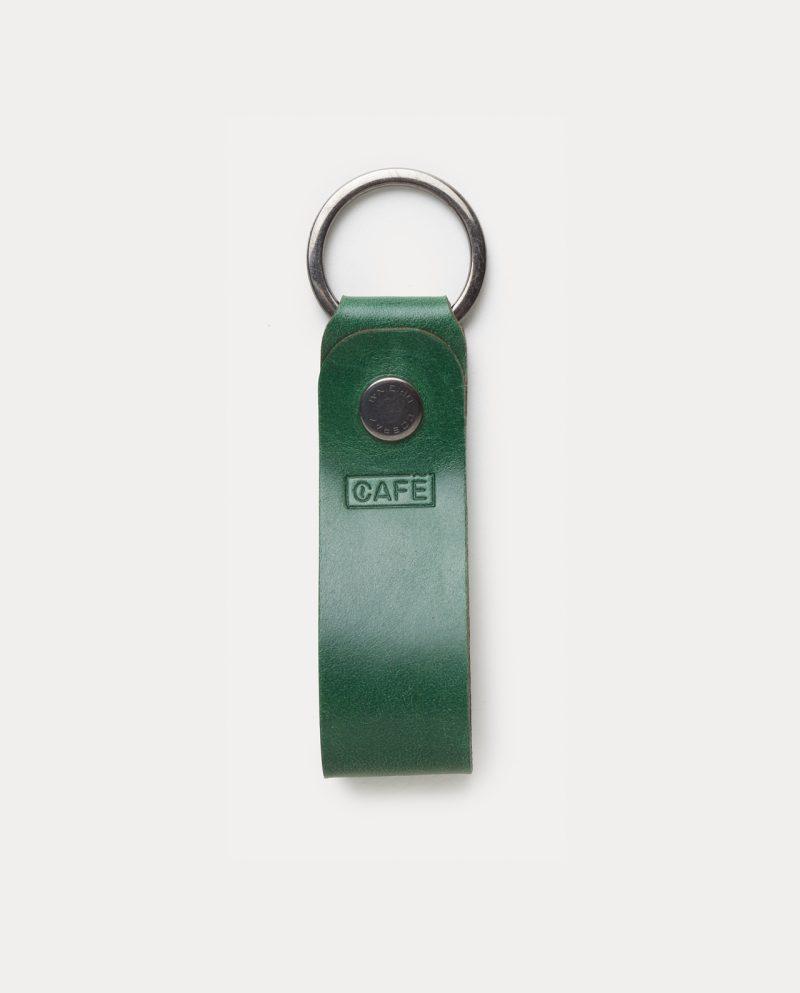 leather key chain greenery