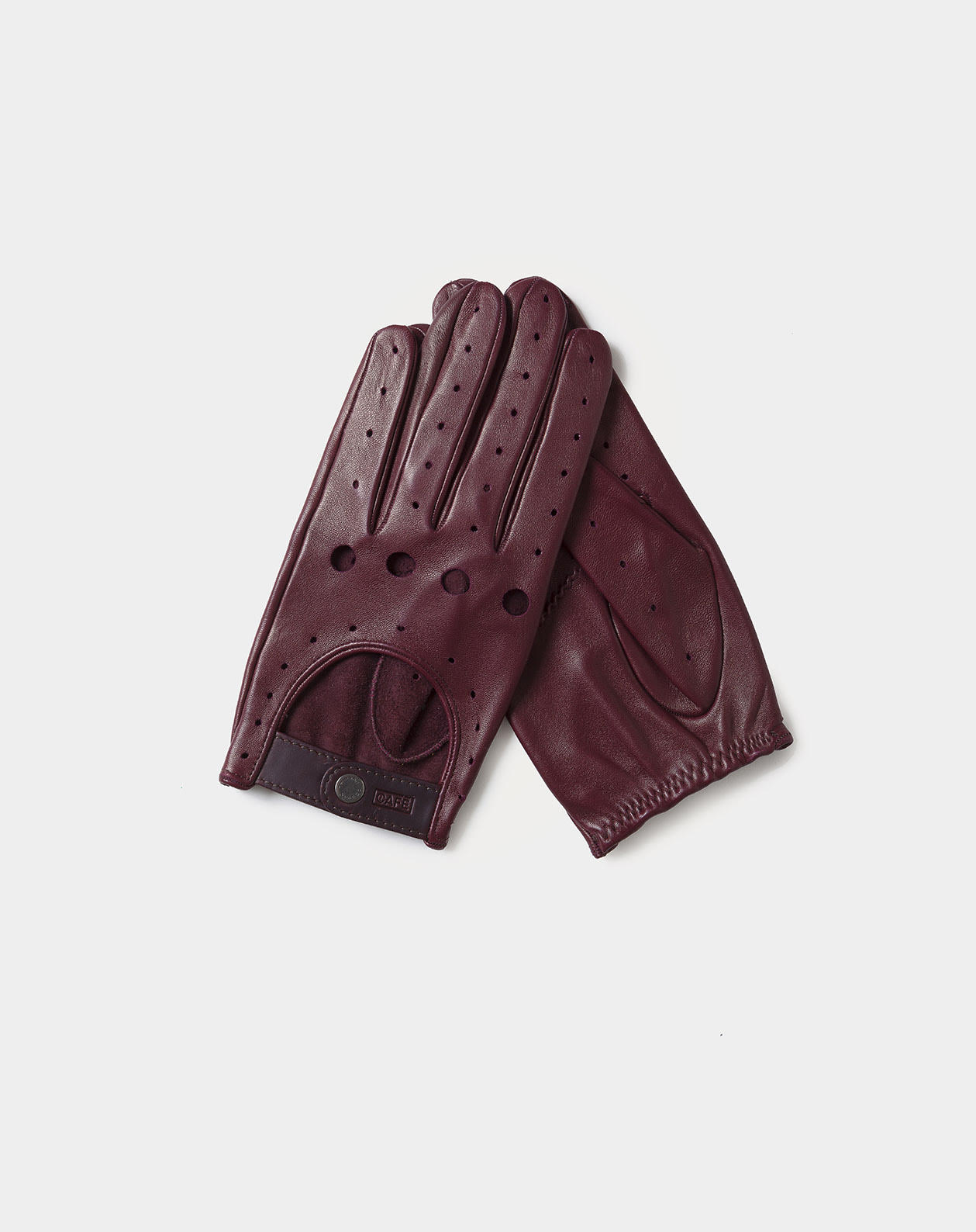 driving gloves red handcrafted in Spain