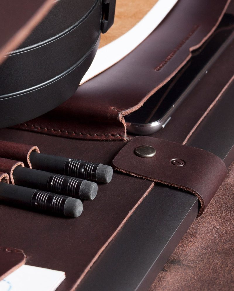 leather briefcase compartment