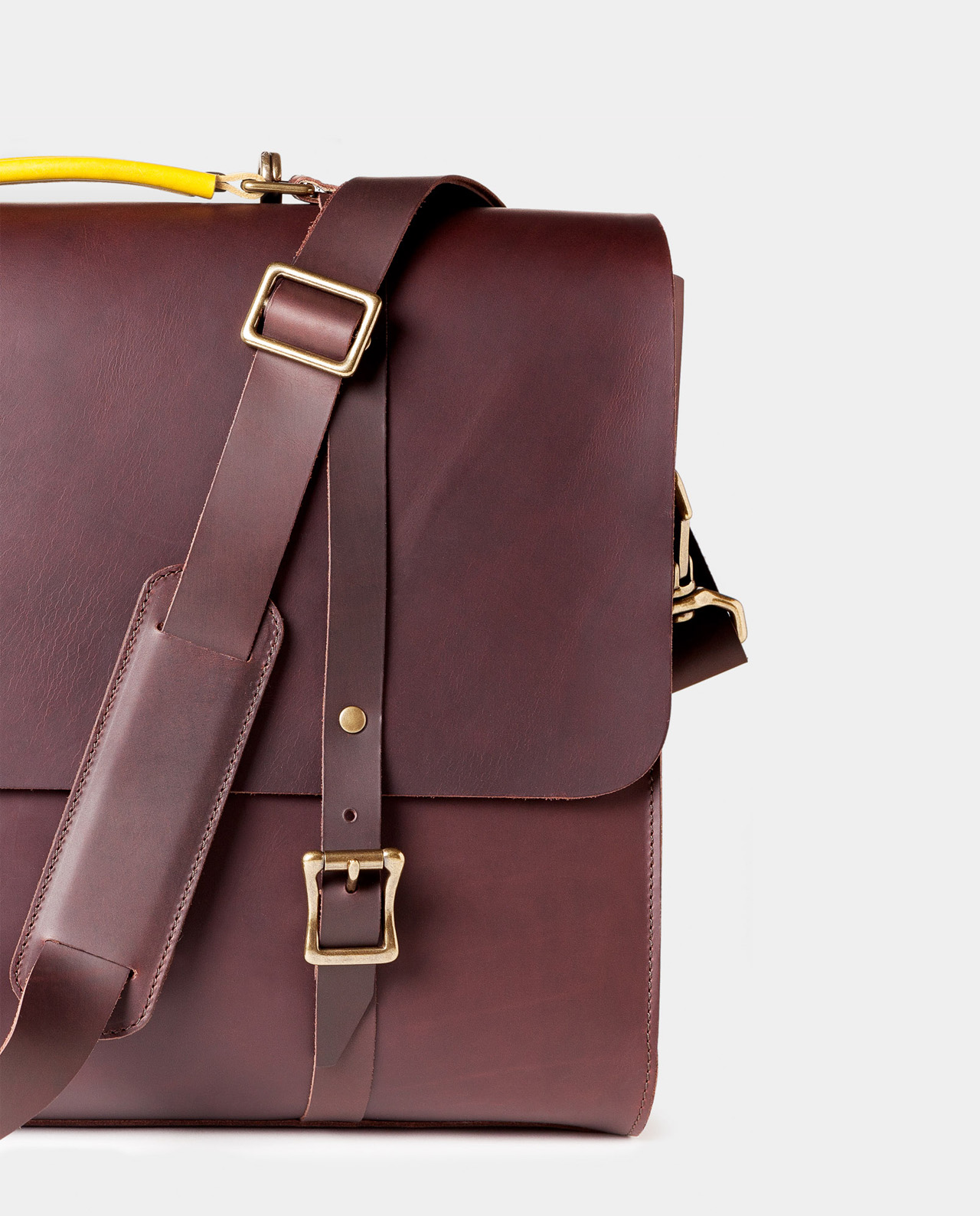 leather briefcase for laptop and documents