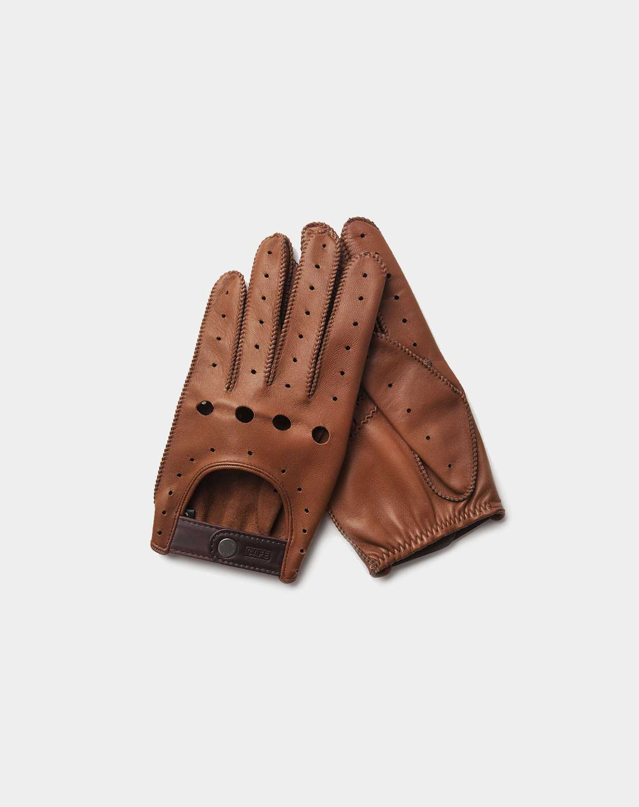 driving gloves brown leather handcrafted in Spain