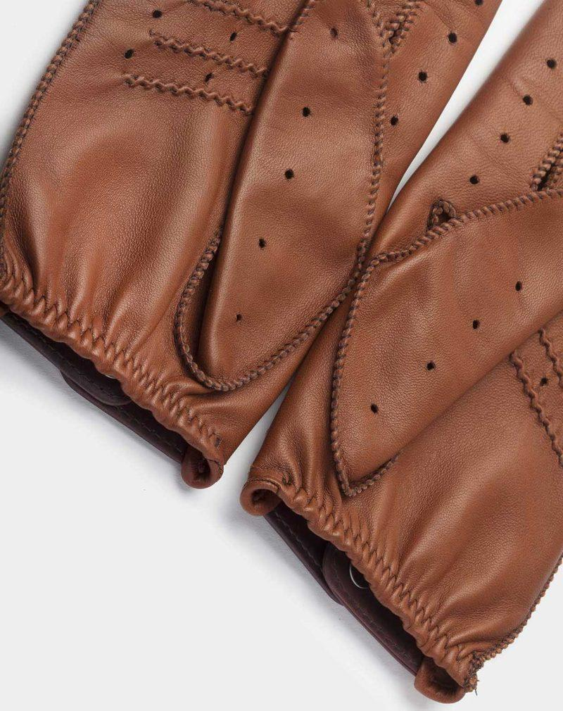 driving gloves brown palm leather