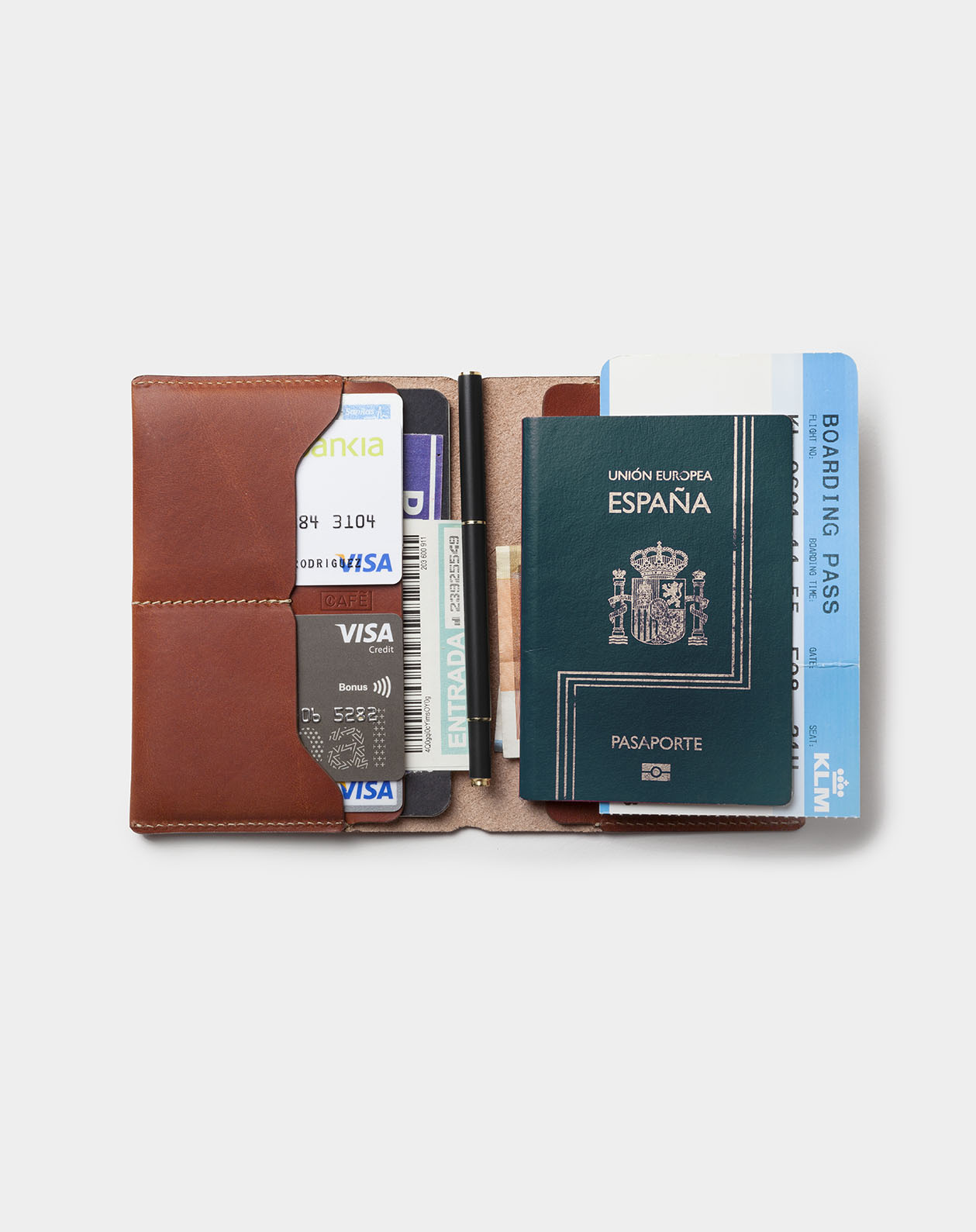 Travel wallet passport roasted