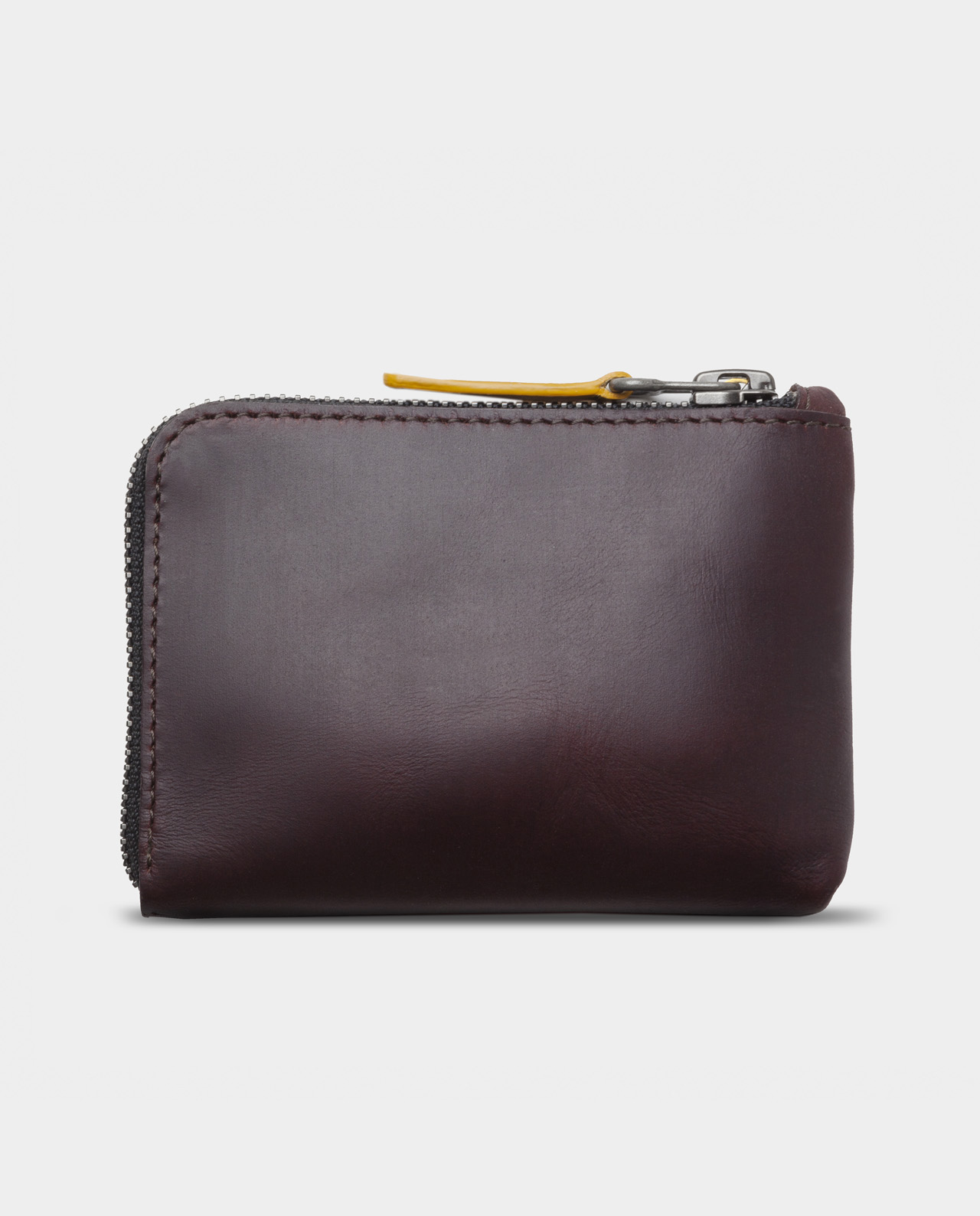 Leather zip wallet black