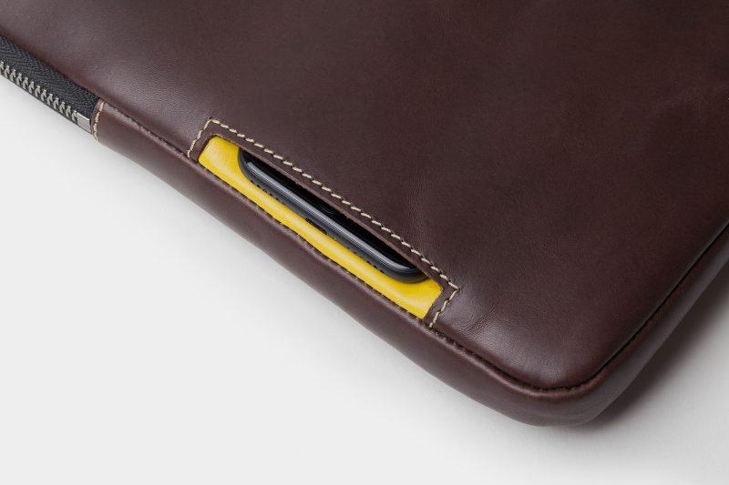 leather portfolio black detail