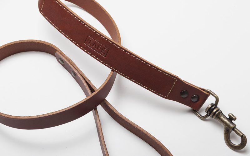 Leather Dog Leash Brown