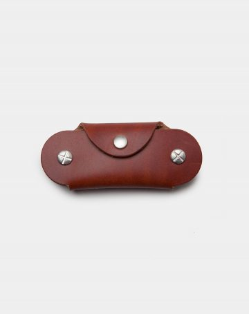 leather key case brown closed front
