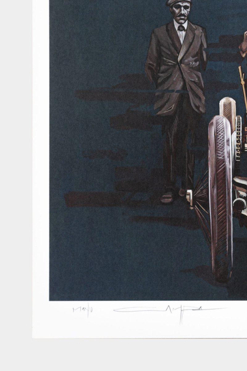 Detalle de la firma de Manu Campa en su obra