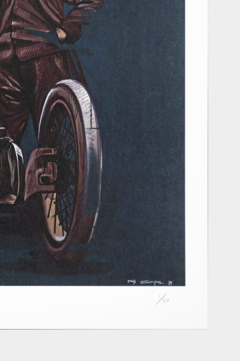 Detalle de la numeración a mano por el artista Manu Campa