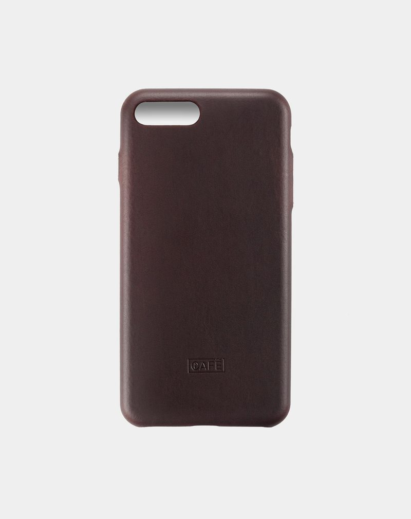 iphone 7 8 plus leather case black