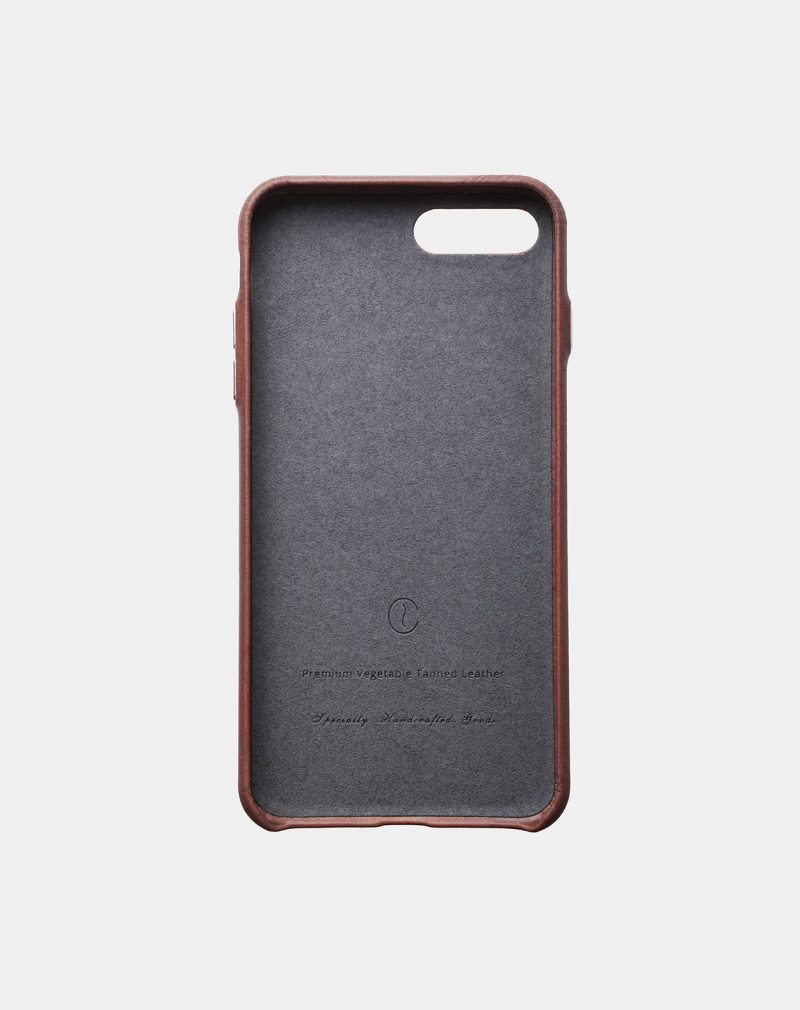 iphone 7 8 plus leather case brown